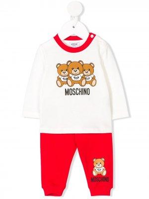 Teddy bear print tracksuit Moschino Kids. Цвет: белый