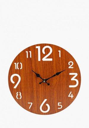 Часы Русские подарки. Цвет: коричневый