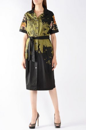 Платье Dries Van Noten. Цвет: хаки