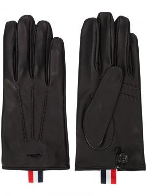 Перчатки с отделкой Thom Browne. Цвет: чёрный