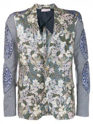 Жаккардовый пиджак 2015-го года Whambam Walter Van Beirendonck Pre-Owned. Цвет: синий