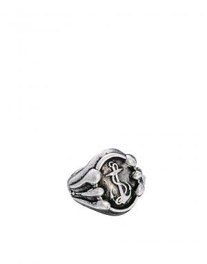 Кольцо с якорем Wear Boom Bap. Цвет: серебряный