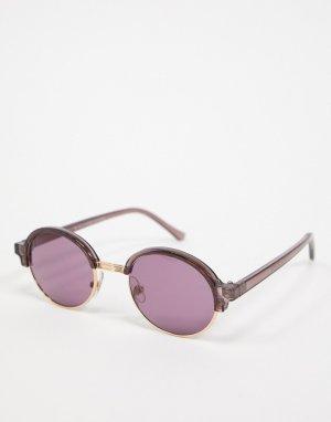 Фиолетовые солнцезащитные очки в стиле ретро -Фиолетовый Topman