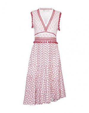 Платье длиной 3/4 ALTUZARRA. Цвет: красный