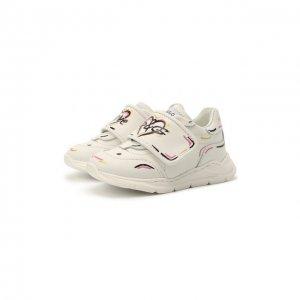 Кожаные кроссовки Dolce & Gabbana. Цвет: белый