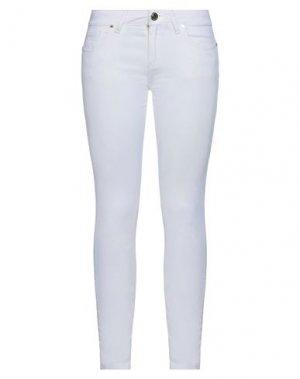 Повседневные брюки FORNARINA. Цвет: белый