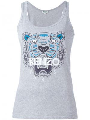 Майка Tiger Kenzo. Цвет: серый
