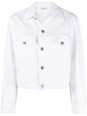 Джинсовая куртка на пуговицах P.A.R.O.S.H.. Цвет: белый