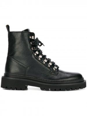 Ботинки на шнуровке Balmain. Цвет: черный