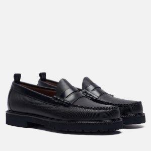 Мужские ботинки лоферы x G.H. Bass Textured Fred Perry. Цвет: чёрный