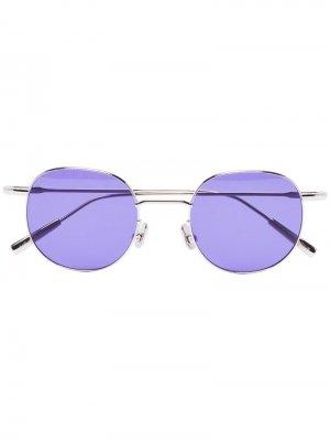 Солнцезащитные очки Karlheinz в металлической оправе AMBUSH. Цвет: фиолетовый