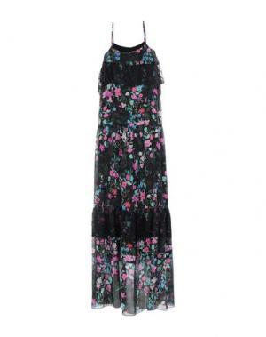 Длинное платье ANNA RACHELE JEANS COLLECTION. Цвет: черный