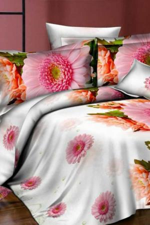 Постельное белье евро 70x70 Fantasy. Цвет: серый, розовый, зеленый