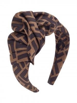 Ободок с монограммой Fendi. Цвет: коричневый
