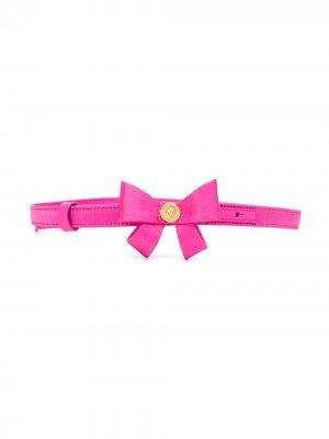 Ремень с бантом Young Versace. Цвет: розовый