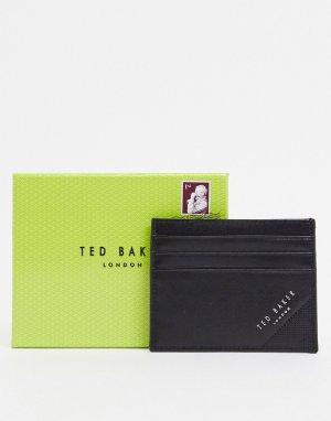 Черная кожаная кредитница с тиснением -Черный Ted Baker