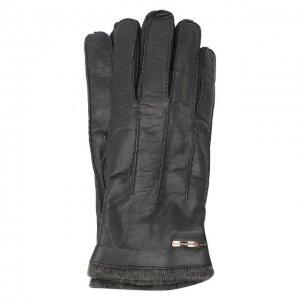 Кожаные перчатки Moreschi. Цвет: серый