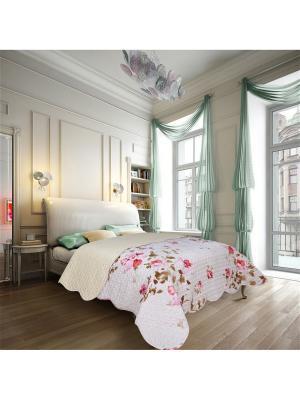 Покрывало Nice 2 спальное Евро Amore Mio. Цвет: розовый, белый