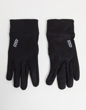Черные спортивные перчатки для сенсорных экранов -Черный ASOS 4505