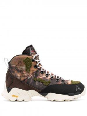 Ботинки Andreas на шнуровке ROA. Цвет: коричневый