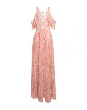 Длинное платье BABYLON. Цвет: телесный