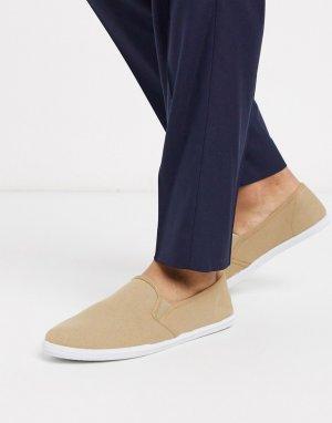 Бежевые туфли-слипоны -Neutral Dunlop