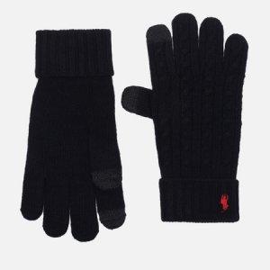 Перчатки Classic Cable Wool/Nylon Polo Ralph Lauren. Цвет: чёрный