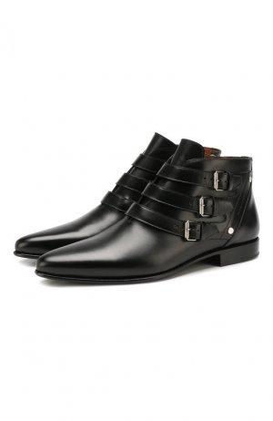 Кожаные сапоги Dallas Givenchy. Цвет: черный