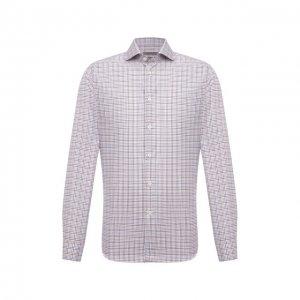 Хлопковая рубашка Corneliani. Цвет: разноцветный