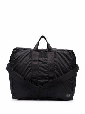 Дорожная сумка с нашивкой-логотипом Porter-Yoshida & Co.. Цвет: черный