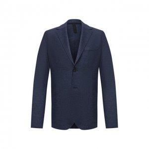 Шерстяной пиджак Harris Wharf London. Цвет: синий