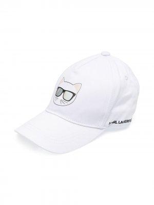 Кепка Choupette Karl Lagerfeld Kids. Цвет: белый