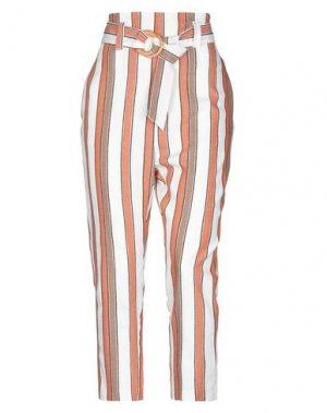 Повседневные брюки EMMA & GAIA. Цвет: слоновая кость