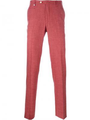 Классические брюки-чинос Corneliani. Цвет: красный