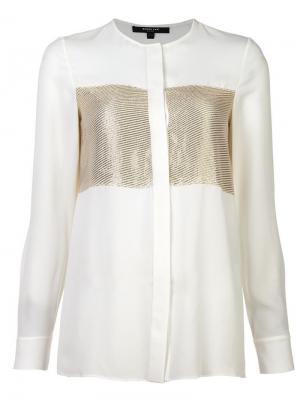 Блузка без воротника с полосками Derek Lam