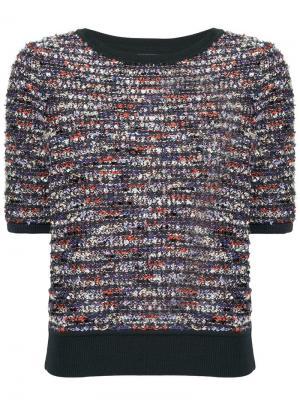 Твидовый пуловер COOHEM. Цвет: разноцветный