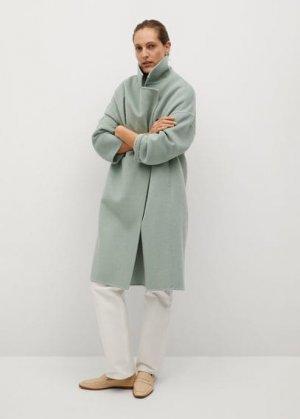 Шерстяное пальто ручной работы - Picarol Mango. Цвет: зеленая мята