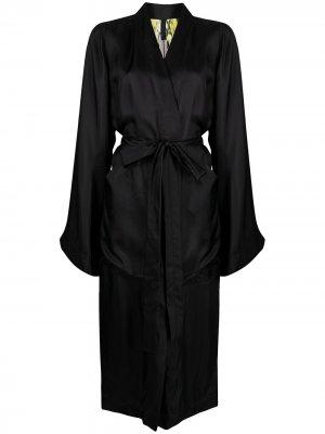 Пальто с поясом Rick Owens. Цвет: черный