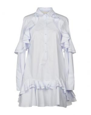 Короткое платье ANTONIO BERARDI. Цвет: небесно-голубой