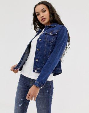 Джинсовая куртка -Голубой Lipsy