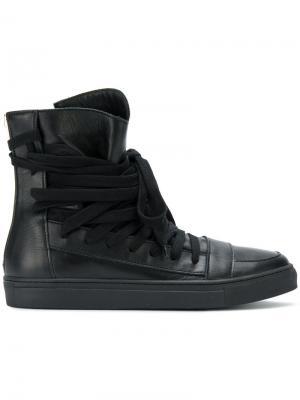Хайтопы со шнуровкой Kris Van Assche. Цвет: чёрный