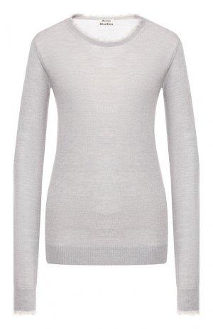 Шерстяной пуловер Acne Studios. Цвет: серый