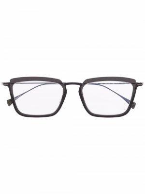 Очки в квадратной оправе Yohji Yamamoto. Цвет: серый