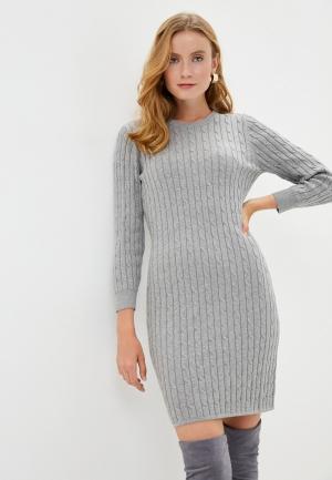 Платье Gant. Цвет: серый