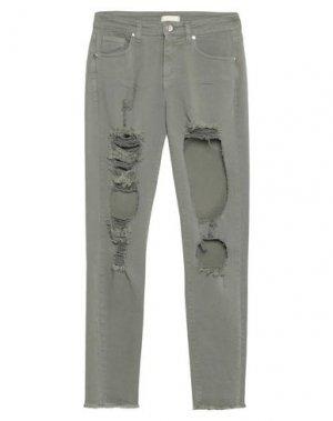 Джинсовые брюки H2O ITALIA. Цвет: зеленый-милитари