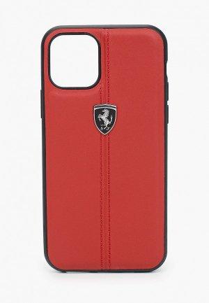 Чехол для iPhone Ferrari 11 Pro, Heritage W Leather Red. Цвет: красный