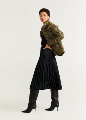 Плиссированная миди-юбка - Catia Mango. Цвет: черный