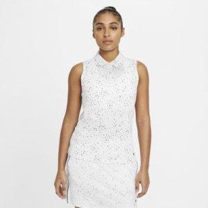 Женская рубашка-поло без рукавов с принтом для гольфа Nike Dri-FIT - Белый