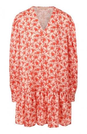Платье с принтом DROMe. Цвет: розовый