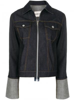Джинсовая куртка на молнии Helmut Lang. Цвет: синий